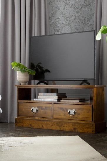 Garrat Dark Chestnut Corner Tv Unit