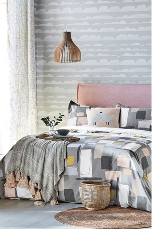 Scion Composition Abstract Geo Cotton Duvet Cover