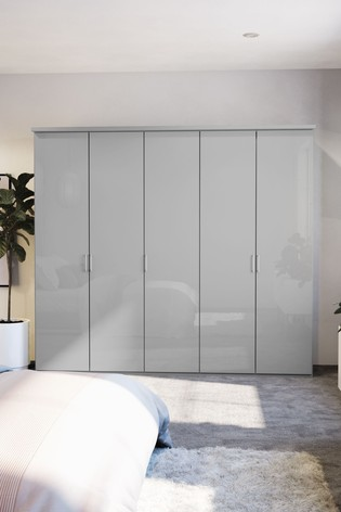 Peyton Grey Extra Large Hinged Wardrobe