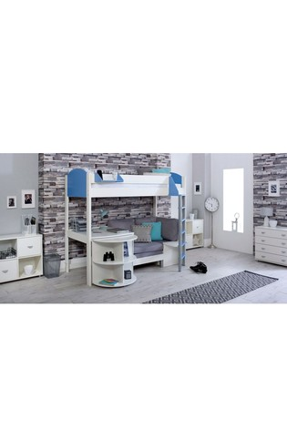 Noah D White and Blue High Sleeper by Kids Avenue