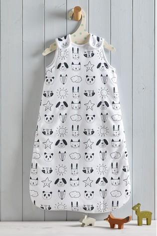 Monochrome Animals 2.5 Tog Sleep Bag
