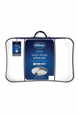 2 Pack Silentnight Luxury Satin Stripe Pillows