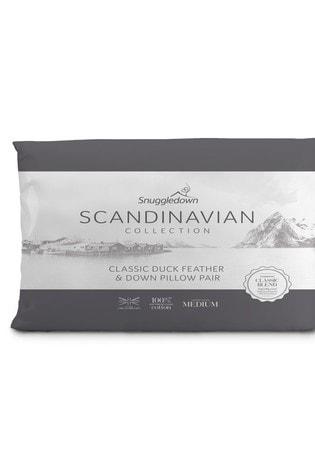 Snuggledown Scandinavian 2 Pack Duck Feather And Down Pillows