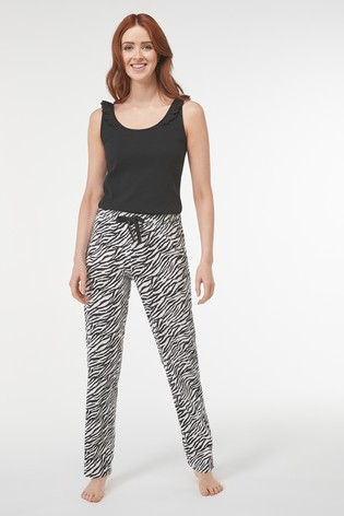 Zebra Print Broderie Rib Pyjamas