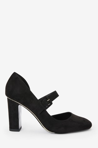 Black Two Part Mary Janes