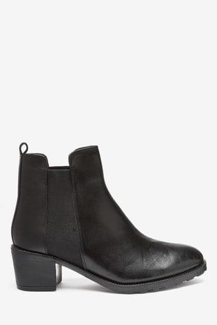 Black Forever Comfort® Block Heel Chelsea Boots