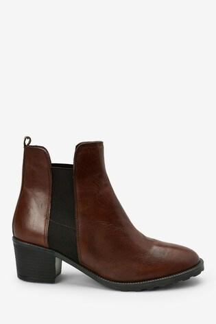 Brown Forever Comfort® Block Heel Chelsea Boots