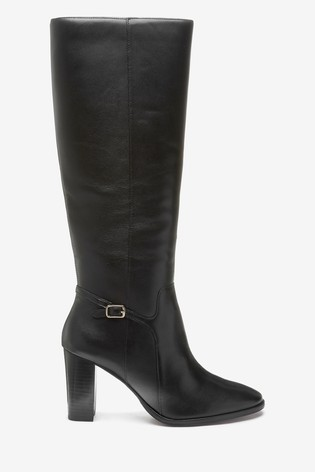 Black Signature Knee High Boots
