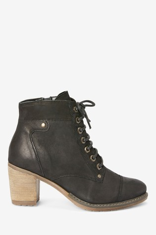 Black Forever Comfort® Lace-Up Boots