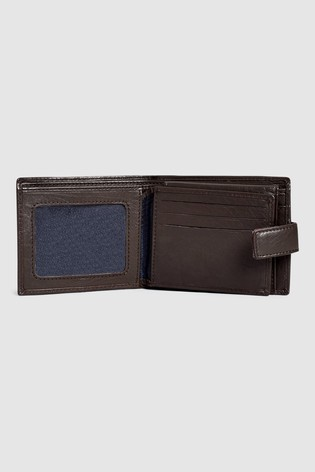 Brown Signature Italian Leather Extra Capacity Wallet