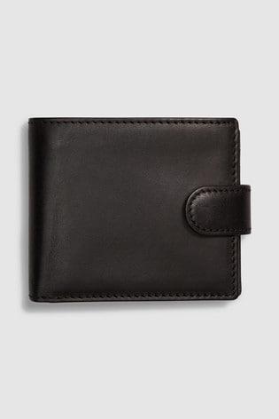 Black Signature Black Label Italian Leather Extra Capacity Bifold Wallet