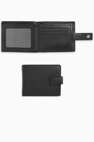 Black Signature Italian Leather Extra Capacity Wallet