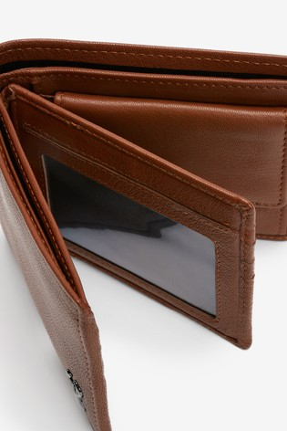 Tan Leather Stag Badge Extra Capacity Wallet