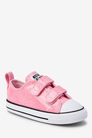 Converse Infant Glitter 2 Velcro Trainers