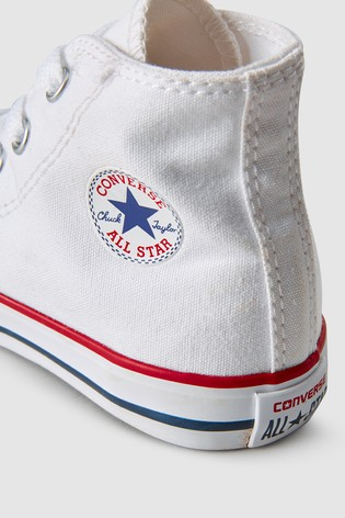 Converse Infant White Chuck High Trainers