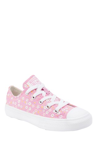 Converse Floral Print Youth Low Trainers