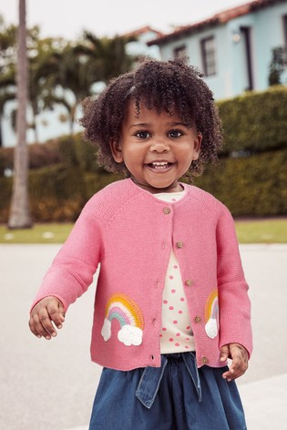 Pink Rainbow Cardigan (3mths-7yrs)