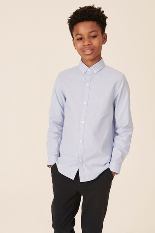 Blue Without Stag Long Sleeve Oxford Shirt (3-16yrs)