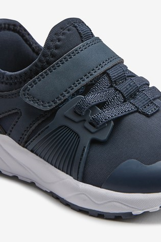 Navy Elastic Lace Trainers (Older)