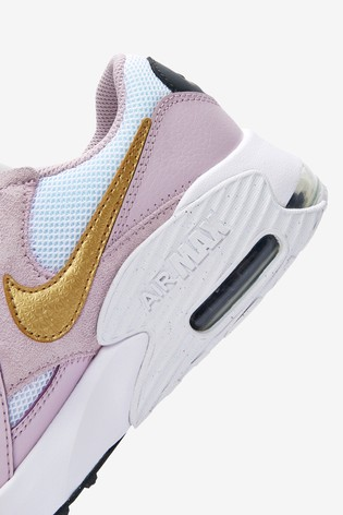 Nike White/Pink Excee Youth Trainers