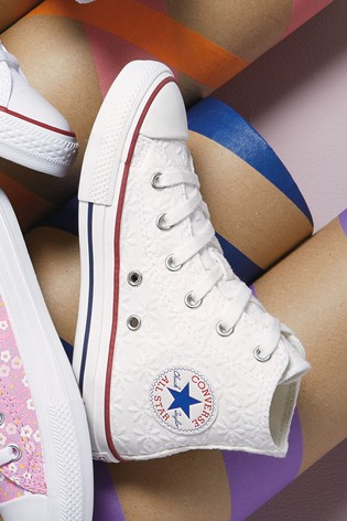 Converse Embroidered Junior High Top Trainers
