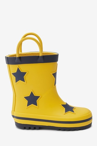 Yellow Star Wellies (Younger)