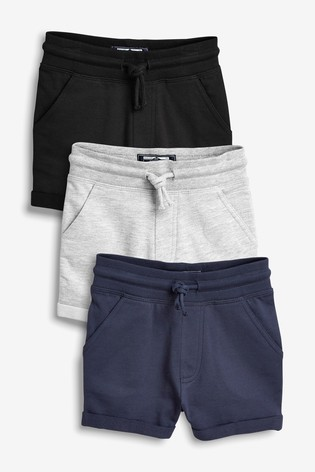 Black/Navy/Grey 3 Pack Shorts (3mths-7yrs)