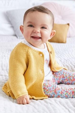 next Baby M/ädchen Strickjacke mit R/üschensaum