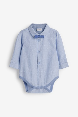 Blue Shirt Body And Bow Tie Set (0mths-3yrs)