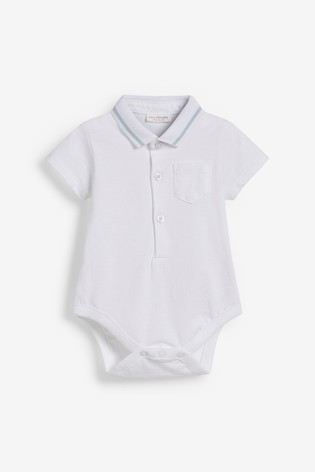 Blue Stripe Dungarees And Polo Body Set (0mths-2yrs)