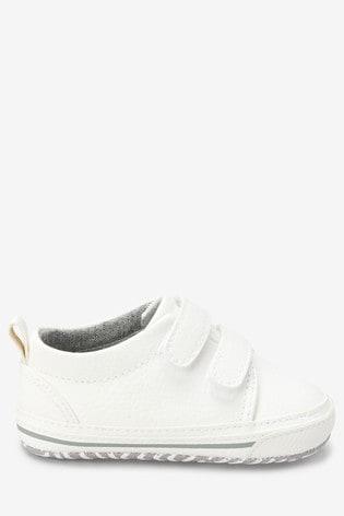 Kup Białe buty sportowe na rzepy (Starsze dziewczynki) from