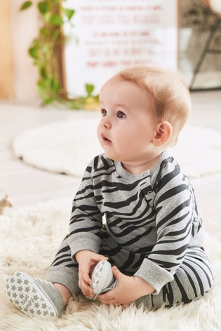 Grey Animal Print Co-ord Sweater And Joggers Set (0mths-2yrs)