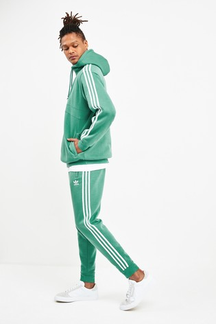 adidas originals tape fleece 1/2 zip hoodie