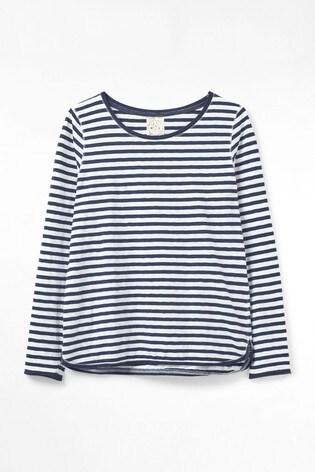 White Stuff Blue Carly Fairtrade Jersey T-Shirt
