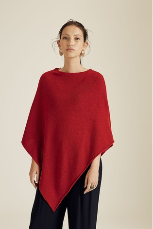 Jigsaw Wool Cashmere Blend Rolled Poncho