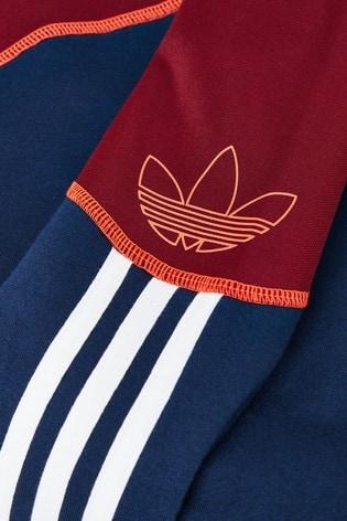 adidas Originals Burgundy/Navy SPRT Overhead Hoody