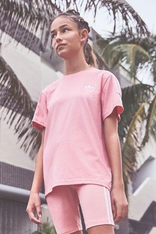 adidas Originals Pink Lock Up Tshirt