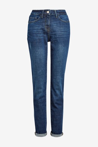 Dark Wash Relaxed Skinny Jeans