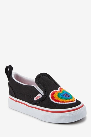 Vans Infant Slip On Rainbow Heart Trainers