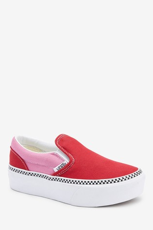 Vans Junior Classic Slip-On Platform Ankle Trainers