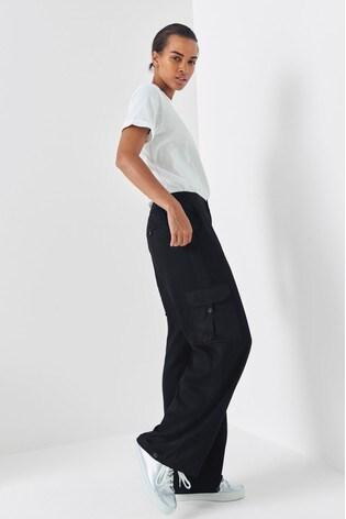 Next/Mix Wide Leg Cargo Trousers