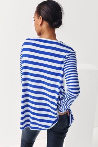 Next/Mix Stripe Drape Tunic