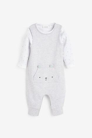Grey GOTs Organic Dungarees And Bodysuit Set (0-12mths)