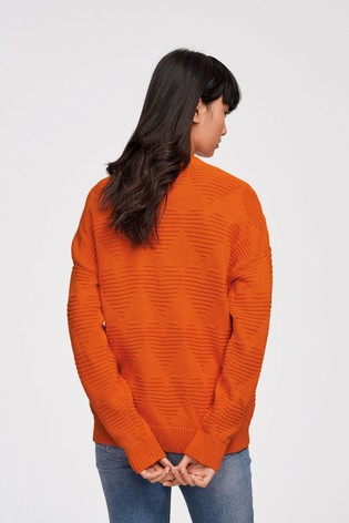 Orange Heart Cardigan