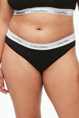 Calvin Klein Black Modern Cotton Plus Bikini Brief