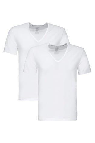 Calvin Klein Modern Cotton V-Neck T-Shirts Two Pack