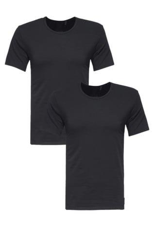 Calvin Klein Black Short Sleeve Crew Neck Top Two Pack