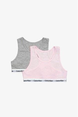 Buy Calvin Klein Pink Bralette Two Pack