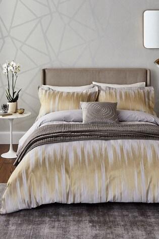 Harlequin Motion Gold Ikat Cotton Duvet Cover