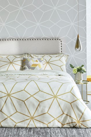 Harlequin Axal Geo Cotton Duvet Cover